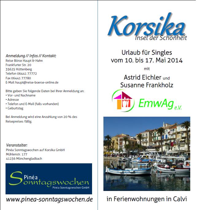 Urlaub für Singles, Freizeit, Calvi/Korsika, Brandenburg